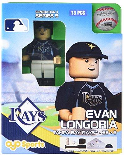 (MLB Tampa Bay Rays Evan Longoria Generation 4 Mini Figure, Small, Black)