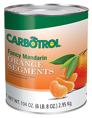 Carbotrol Mandarin Orange Fruit 6 Case 10 Can by Leahy IFP