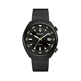 Bulova Men's Accutron II Black Dial/Yellow Accents