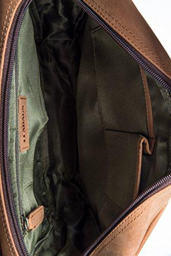 Sac Marron Bandoulière De Rétro Buffle Véritable En Cuir Amsterdam vintage Leabags pqB5TB