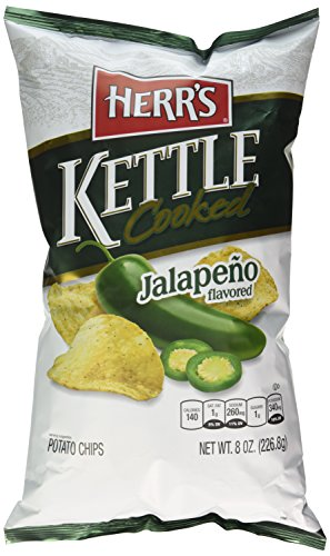 Herrs Kettle Cooked - Herr's Jalapeno Kettle Chips, 8 Ounce
