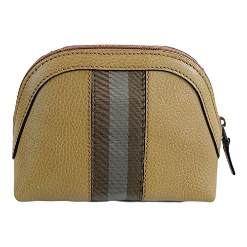 Gucci Women's Web Leather Cosmetic Case 339558 7766 Whiskey Beige