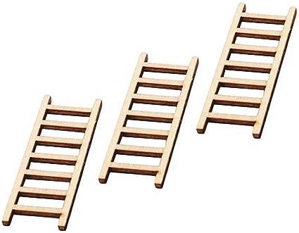 Pellisilot Bricolaje Caja de alimentación en Miniatura Regalo Escalera de Madera Escalera Muebles Herramientas Hada Jardín Miniatura Estatua de acción Decorativa: Amazon.es: Hogar