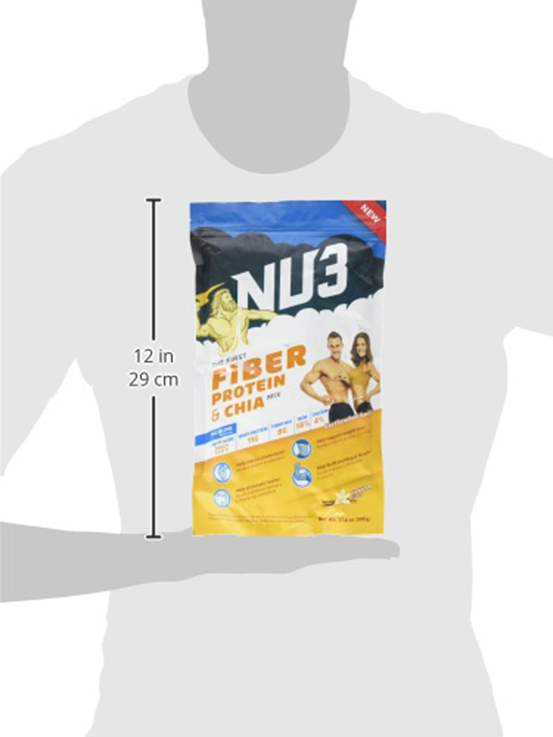 Amazon.com: Nu3 Fiber, Protein and Chia Supplement, Vanilla, 17.60 Ounce: Health & Personal Care