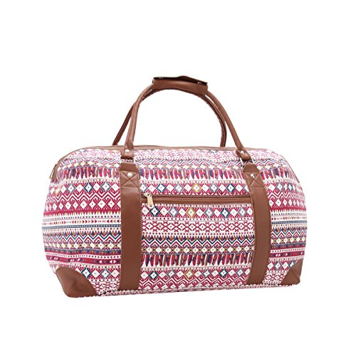 529ff6dd89 Canvas Travel Holdalls - 30 COLOURS - Weekend Overnight Bags - Medium Size  Holiday Duffle Bag - Ideal Womens Ladies Gym Holdall - Hand Luggage Cabin  Baggage ...