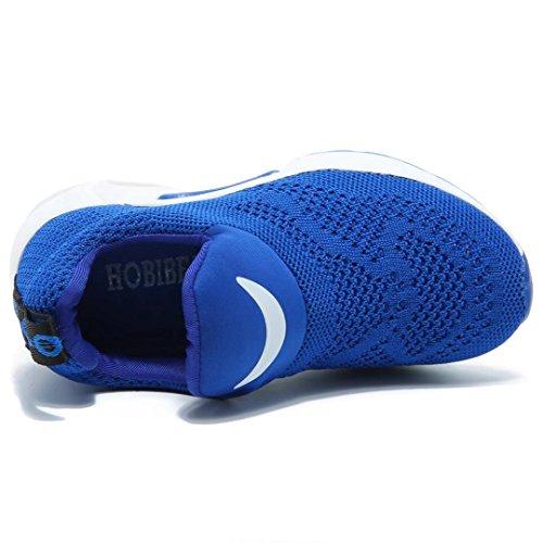 BODATU Kids Boys Running Shoes Comfortable Fashion Light Weight Slip on Cushion(10, Blue) - Image 5