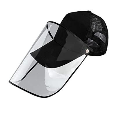 Full Face Visor Hat,Unisex Detachable Baseball Cap Eye Protective Adjustable Hat Anti-Saliva Anti-Spitting Outdoor Sun: Clothing