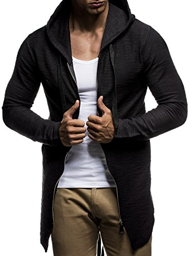LEIF NELSON LN6301 Mens Oversized Hoodie Sweatshirt,US - XXL/ EU - XXXL,Black