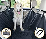 Cheap Dog Seat Cover For Cars Suv's And Trucks, WE LOVE ANIMALS – Pet Seat Covers Hammock Convertible Bench Protector With Waterproof nonslip backing, extra side flaps, one size – black
