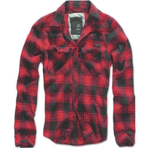 Brandit Mens Check Shirt Black/Grey