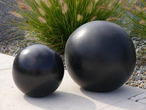 Dekokugel zu Pflanzkübel Blumenkübel, D = 20cm, edel-schwarz
