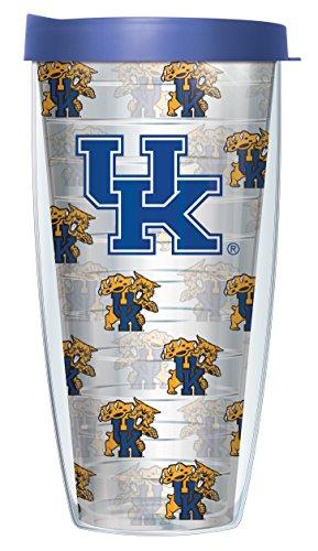 Kentucky Pattern - University Of Kentucky Logo Pattern On Clear Super Traveler 22 Oz Tumbler Mug with Lid