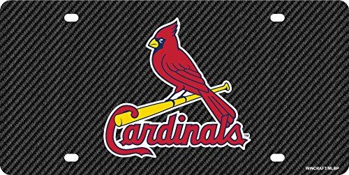 St Louis Cardinals Carbon Fiber Premium Laser Tag Acrylic License Plate (Louis Cardinals Fiber)