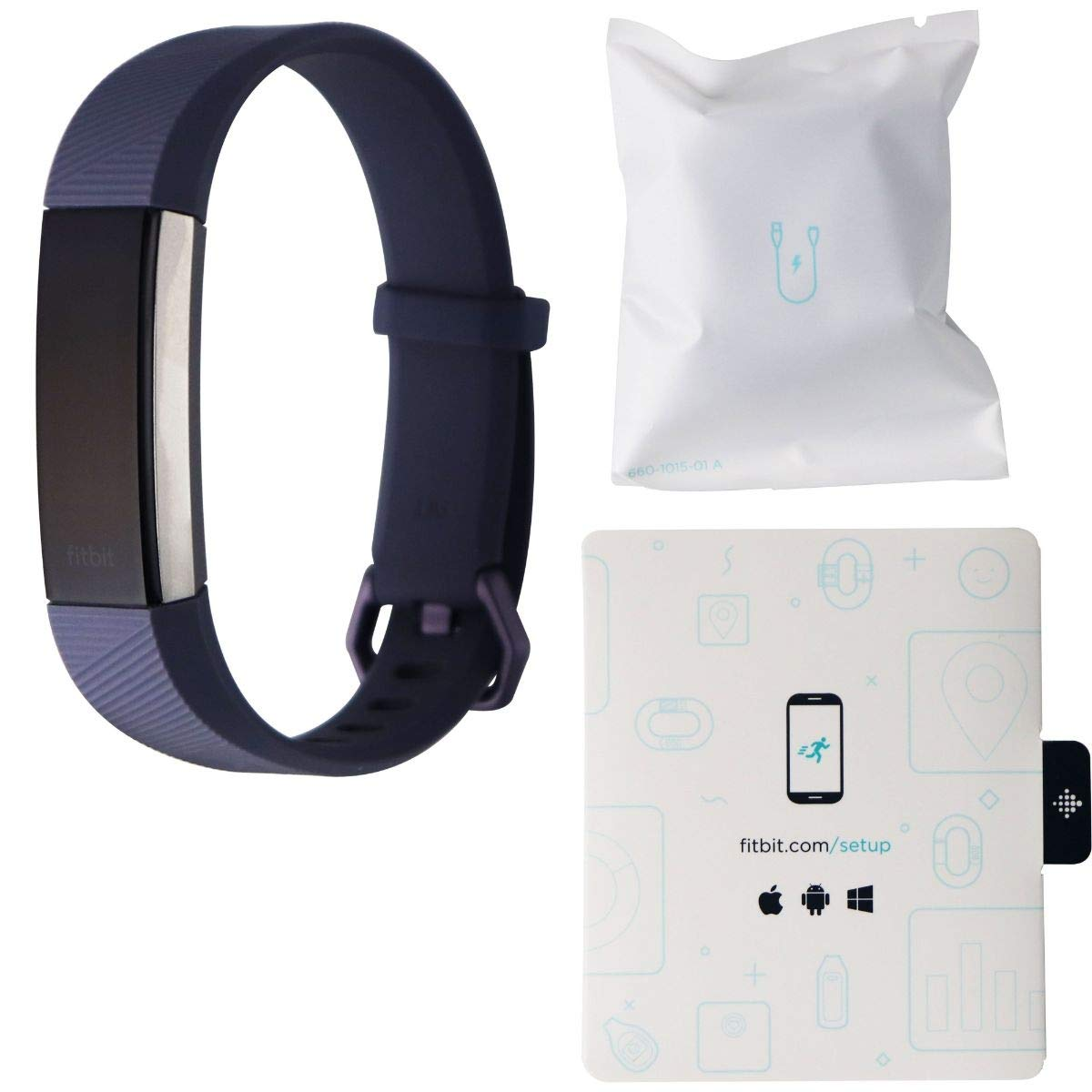 Fitbit Alta HR, Blue/Gray, Large (Renewed)