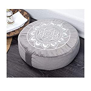 Florensi Meditation Cushion (16″x16″x5″), Large Velvet Meditation Pillow, Premium Yoga Pillow for Women and Men, Yoga Cushion, Meditation Pillows for Sitting on Floor, Buckwheat Meditation Cushions