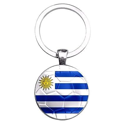 Matefielduk Llavero Colgante Cadena de Clave Colgante Copa Mundial de la Bandera Nacional Llavero Titular Coche
