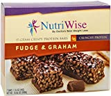 NutriWise - Fudge & Graham Crunch Diet Protein Bars (7 bars) by NutriWise