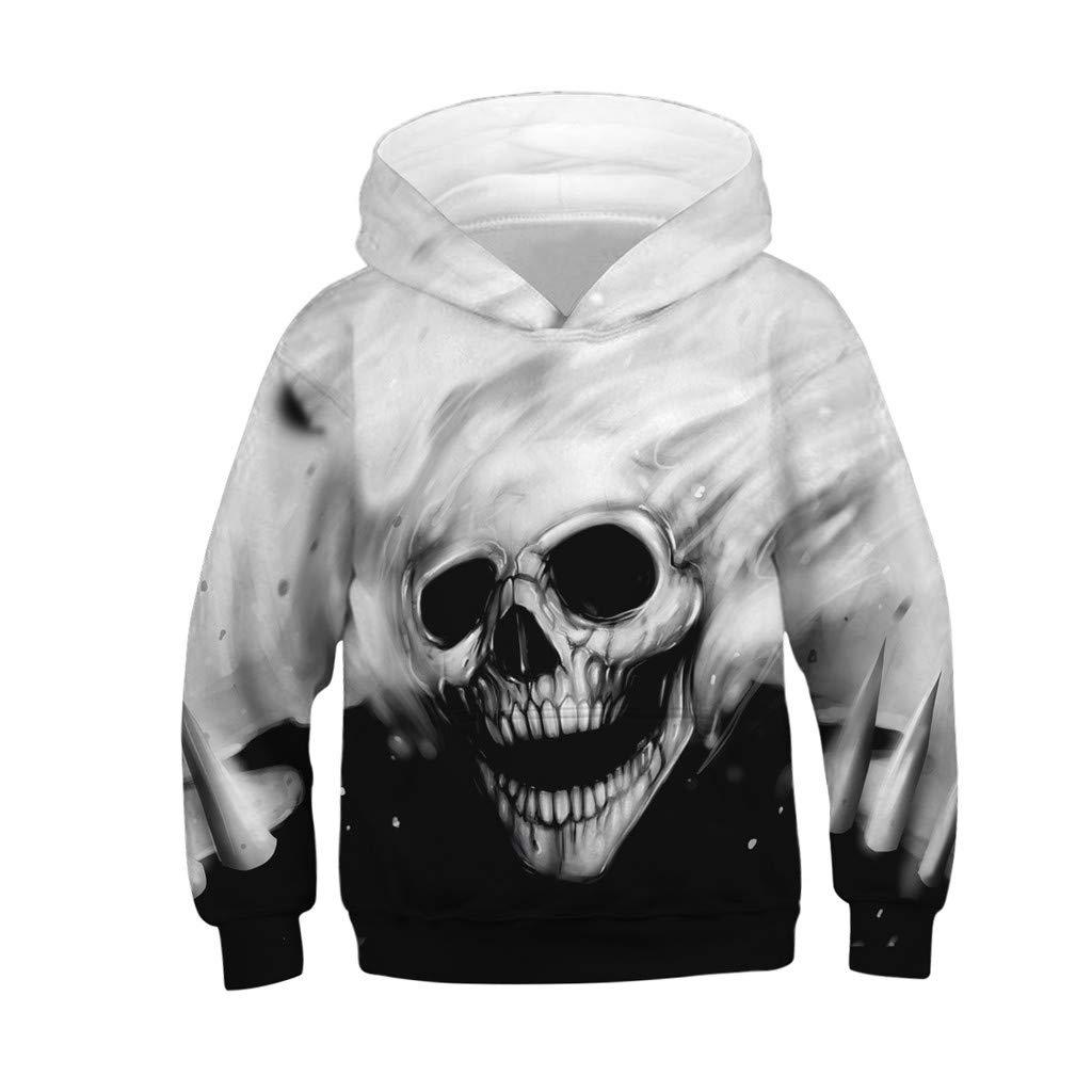 Unisex Teen Sweatshirt Waymine Kids 3D Digital Print Cartoon Pocket Hoodie Pullover