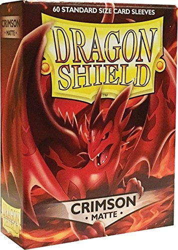 Arcane Tinman Sleeves: Dragon Shield Matte Crimson (Red) (60), One Size