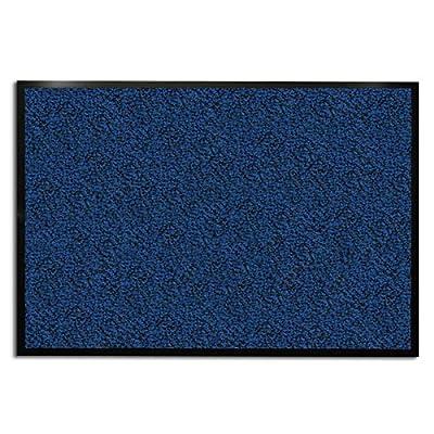casa pura Carpet Entrance Mat, Blue (Mottled) | Absorbent, Non-slip, Indoor/Outdoor (Multiple Sizes)