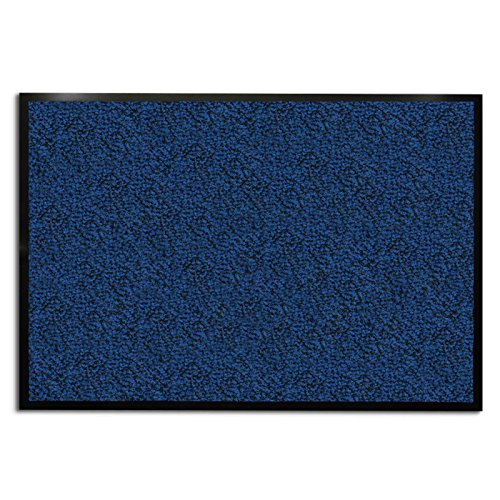 casa pura Carpet Entrance Mat, Blue (Mottled) 36