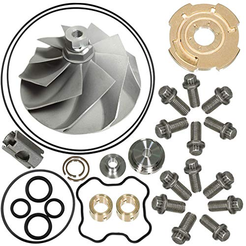 - 7.3L Turbo Compressor Wheel & Upgraded GTP38 Rebuild Kit For 1994-2003 Ford Powerstroke 446579-0001 170293 By TOPEMAI