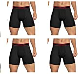 Champion Mens Elite SmartTemp Vapor Tech-Boxer Briefs, 4-Pack (XL- Black)