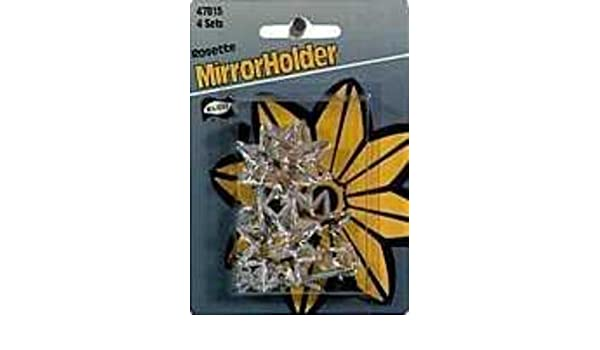 The Hillman Group 122200 Mirror Rosettes Clear
