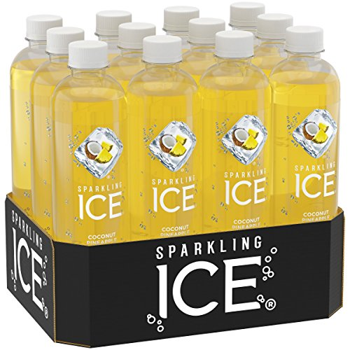 Sparkling Ice Coconut Pineapple, 17 Ounce Bottles (Pack of 12) (Sparkling Water)