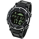 [LAD WEATHER] Tide graph 100 Meters Waterproof Moon phase High & Low tide Pacer Fishing/ Surfing Men's Watch