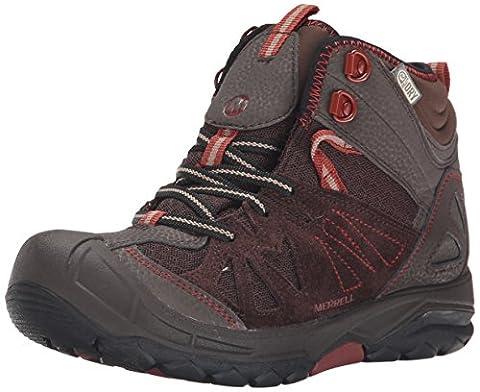 Merrell Capra Mid Waterproof Hiking Boot (Toddler/Little Kid/Big Kid),Brown,12 M US Little Kid - Leather Mid Waterproof Boot