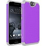 HTC One A9 Case, Tauri [Drop Protection] Protective Case [Shock Proof] Dual Lawyer Hybrid Defender Armor Case Cover For HTC One A9 - Purple