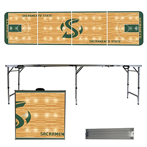 NCAA Sacramento State Hornets Basketball Court Version Folding Tailgate Table, 8' by Victory Tailgate