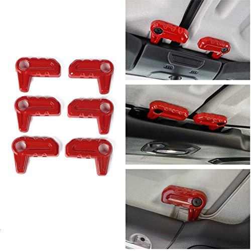 Voodonala Red Hardtop Release Kbon Cover Roof Remove Handle Trim for 2018 Jeep JL Wrangler & -