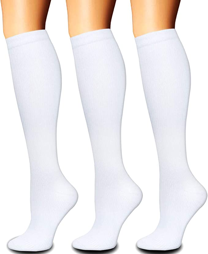 Multicoloured9-3 Pairs, Small//Medium Compression Socks for Women and Men 1//3 Pairs -Best for Running,Nursing,Circulation,Recovery /& Travel