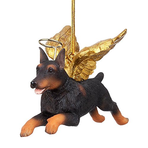 (Christmas Tree Ornaments - Honor The Pooch Doberman Pinscher Holiday Angel Dog Ornaments)