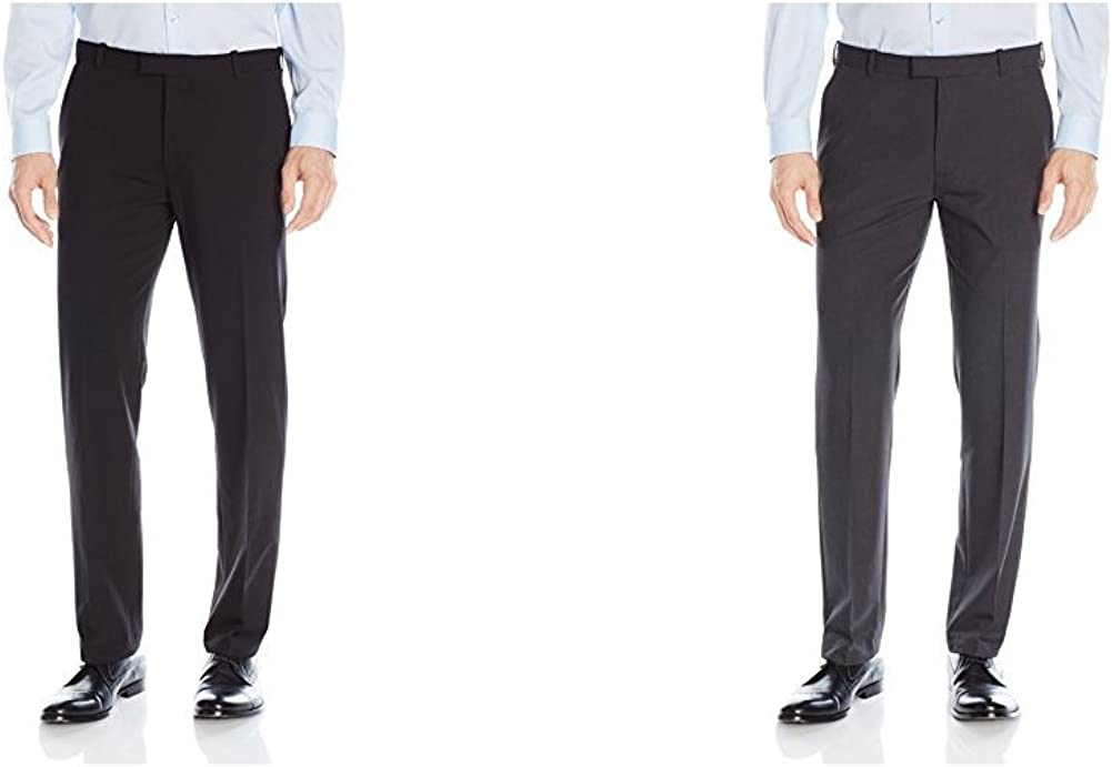 Van Heusen Mens Flex Straight Fit Flat Front Pant Casual Pants