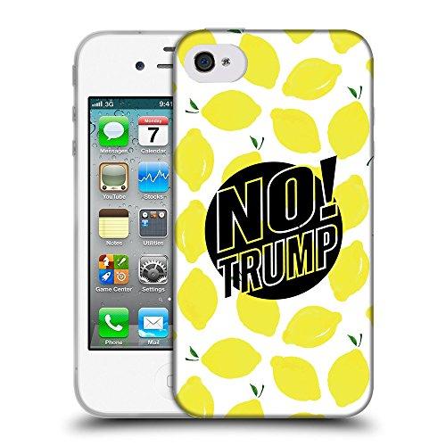 Super Galaxy Coque de Protection TPU Silicone Case pour // Q04160523 Plus de trump lemon // Apple iPhone 4 4S 4G