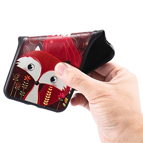 iPhone 8 Hülle 3D Roter fuchs oh Premium Handy Tasche Schutz Schale Für Apple iPhone 8 + Zwei Geschenk