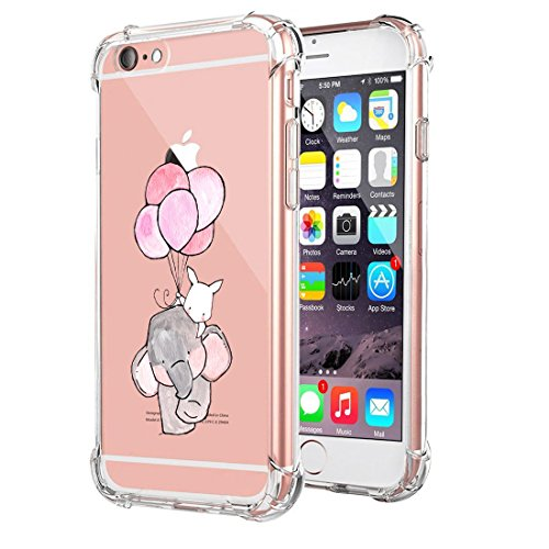 Price comparison product image iPhone 6/6s Case Ultra Slim Clear Flexible TPU Anti-shock Air Cushion Corners Protect Cover (iPhone 6/6s, 8)