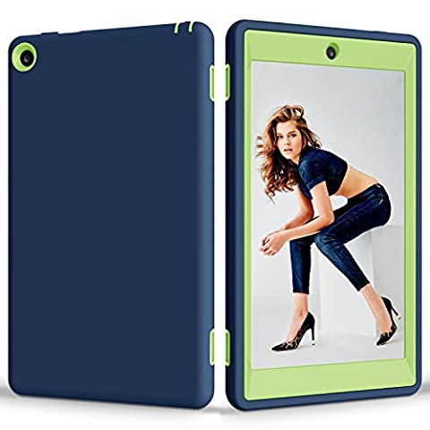 Amazon Fire HD 8.0 Case, Jeccy Dual Layer Full-body Shock Proof Hybrid Heavy Duty Armor Defender Protective Case, Silicone Skin Hard Plastic Case for Amazon Fire HD 8.0 inch (6th Generation 2016 (Teen Wolf Kindle Case)