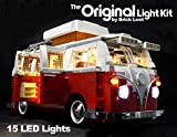 Brick Loot DELUXE VW Camper Lighting Kit for LEGO Set # 10220 (VW Camper not included) by
