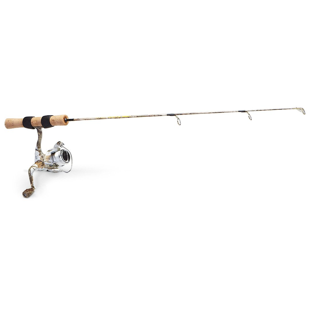 HT Snow Camo Ice Fishing Rod / Reel Combo