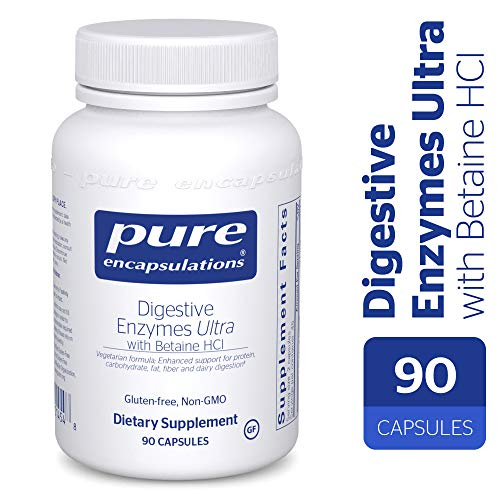 Pure Encapsulations - Digestive Enzymes Ultra with Betaine HCl - Comprehensive Blend of Vegetarian Digestive Enzymes with Betaine HCl - 90 - 90 Enzymes Capsules Digestive