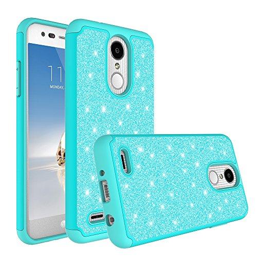 LG Rebel 3 LTE (L157BL) Case, LG Fortune 2 Case, LG Aristo 2 Case (X210), LG Tribute Dynasty (SP200), LG Zone 4/K8 2018 Case,Glitter Shock Proof Hybrid [HD Screen Protector] Phone Case Cover - Mint