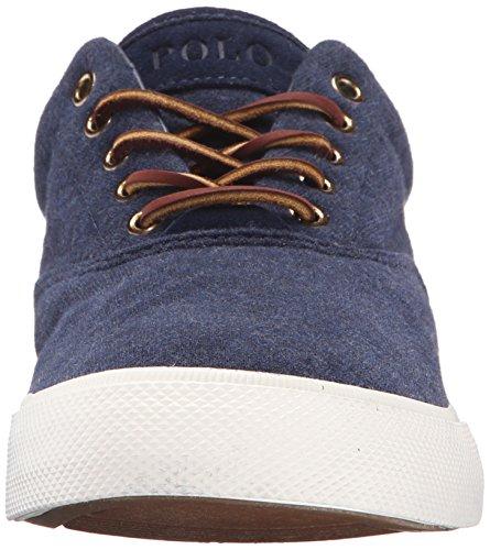 Polo Ralph Lauren Mens Vaughn In Pile Moda Sneaker Blu Scuro Heather