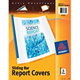 Avery Sliding Bar Clear Report Covers, Pack of 3 (47314)