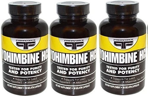 Yohimbine Hcl Supplements Vegetarian Capsules Primaforce 90 X 3