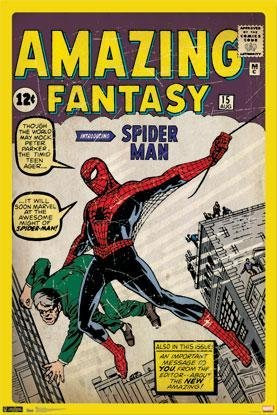 SpiderMan - Comic Cover Amazing Fantasy 24x36 Poster Spider Man Movie Art Print