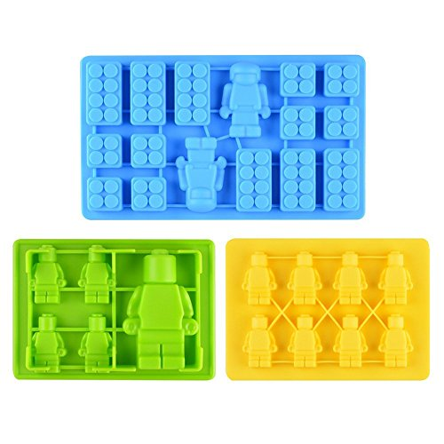 Candy Molds & Ice Cube Trays Building Bricks and Figures - Fun, Toy Kids Set (Candy Ice Mold)